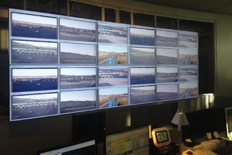 Videowall en Autopistas de Navarra